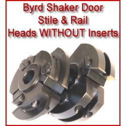Byrd Shaker Door Stile & Rail Heads without Inserts