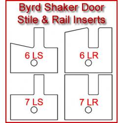 Byrd Shaker Door Stile & Rail Inserts