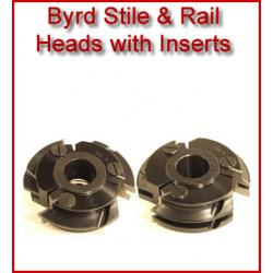 Byrd Cabinet Door Stile & Rail Heads with Inserts