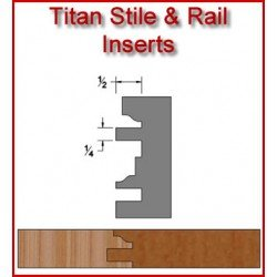 Titan Stile and Rail Inserts for Heavy Duty Head