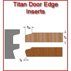 Titan Door Edge Inserts for Heavy Duty Head