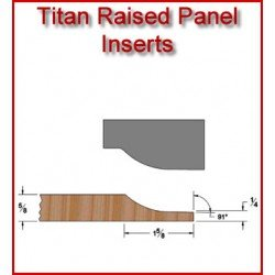 Titan Raised Panel (Vertical) Inserts for Heavy Duty Head