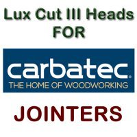 Lux Cut III Heads for Jointers by CARBATEC