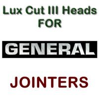 Lux Cut III Heads for Jointers by GENERAL