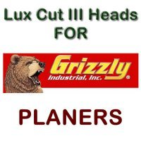 Lux Cut III Heads for Planers by GRIZZLY