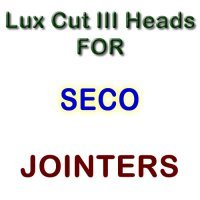 Lux Cut III Heads for Jointers by Seco