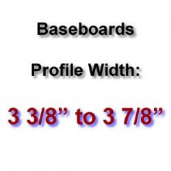 Profile Width: 3 3/8'' to 3 7/8''