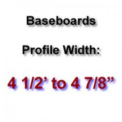 Profile Width: 4 1/2'' to 4 7/8''