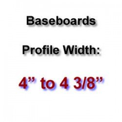 Profile Width: 4'' to 4 3/8''