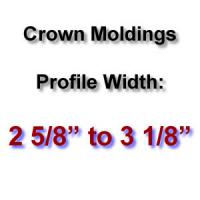 Profile Width: 2 5/8'' to 3 1/8''