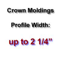 Profile Width: up to 2 1/4''