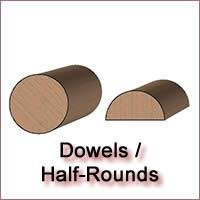 Dowel and Half Round Molding Knives