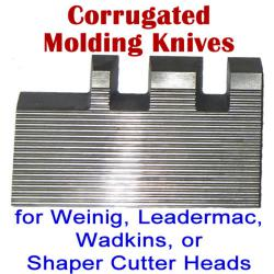 Corrugated Molding Knives for Weinig, Leadermac, Wadkins, or Shaper Cutter Heads