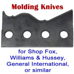 Molding Knives for Shop Fox, Williams and Hussey, General International or similar machines