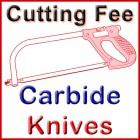 Cut Carbide Knife Bar - 1 Cut