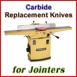 Carbide Jointer Knife Sets, sorted by Machine Manufacturer