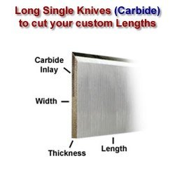 Long Single Knife Bars to cut your own lengths (Carbide)
