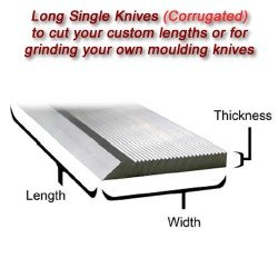 Long Single Knife Bars to cut your own lengths (Corrugated)