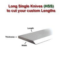 Long Single Knife Bars to cut your own lengths (HSS)