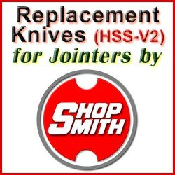 Replacement HSS-V2 Knives for Jointers by Shopsmith