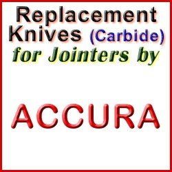 Replacement Blades (Carbide) for Jointers by Accura