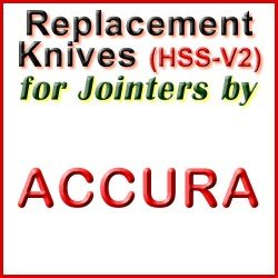 Replacement HSS-V2 Knives for Jointers by Accura