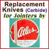 Replacement Carbide Knives for Jointers by Atlas Press