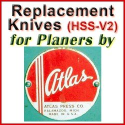 Replacement HSS-V2 Knives for Planers by Atlas Press
