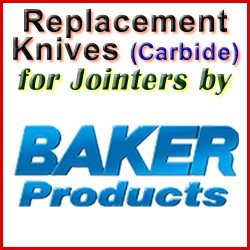 Replacement Blades (Carbide) for Jointers by Baker
