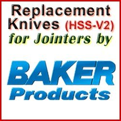 Replacement Blades (HSS) for Jointers by Baker