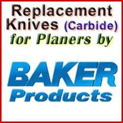 Replacement Blades (Carbide) for Planers by Baker