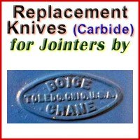 Replacement Carbide Knives for Jointers by Boice Crane