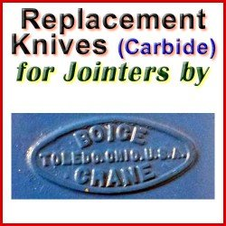 Replacement Blades (Carbide) for Jointers by Boice Crane