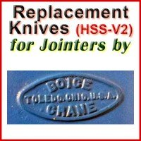 Replacement Blades (HSS) for Jointers by Boice Crane