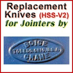 Replacement HSS-V2 Knives for Jointers by Boice Crane