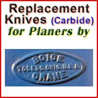 Replacement Blades (Carbide) for Planers by Boice Crane