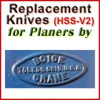 Replacement Blades (HSS) for Planers by Boice Crane