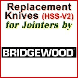 Replacement Blades (HSS) for Jointers by Bridgewood