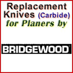 Replacement Blades (Carbide) for Planers by Bridgewood