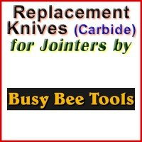 Replacement Carbide Knives for Jointers by Busy Bee