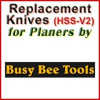 Replacement HSS-V2 Knives for Planers by Busy Bee
