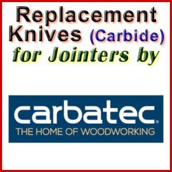 Replacement Blades (Carbide) for Jointers by Carbatec