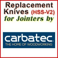 Replacement Blades (HSS) for Jointers by Carbatec