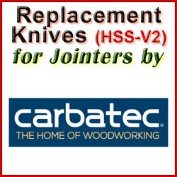 Replacement HSS-V2 Knives for Jointers by Carbatec