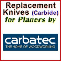 Replacement Blades (Carbide) for Planers by Carbatec