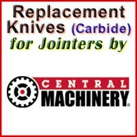 Replacement Carbide Knives for Jointers by Central Machinery
