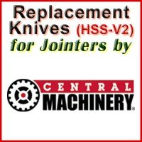 Replacement Blades (HSS) for Jointers by Central Machinery