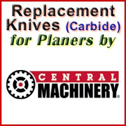 Replacement Blades (Carbide) for Planers by Central Machinery