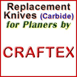 Replacement Blades (Carbide) for Planers by Craftex