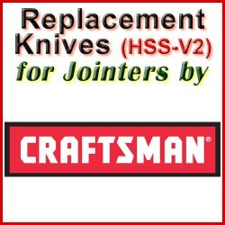 Replacement HSS-V2 Knives for Jointers by Craftsman